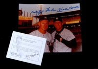 "Mickey Mantle/Whitey Ford Signed 8"" x 10"" Photo (Whitey Ford certificate of authenticity)"