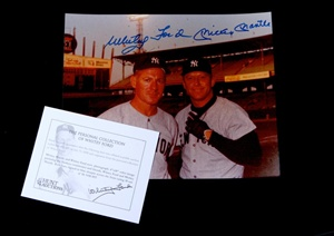 Mickey Mantle/Whitey Ford Signed 8