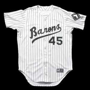 Michael Jordan Autographed Birmingham Barons Baseball Jersey (Upper Deck Authenticated)