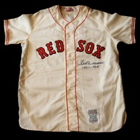 "Ted Williams ""1941 - .406"" autographed and inscribed Boston Red Sox Mitchell & Ness home flannel replica jersey (PSA/DNA)"