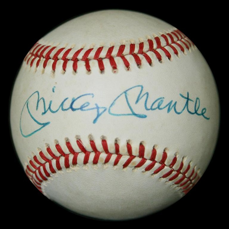 what is a mickey mantle autographed baseball worth