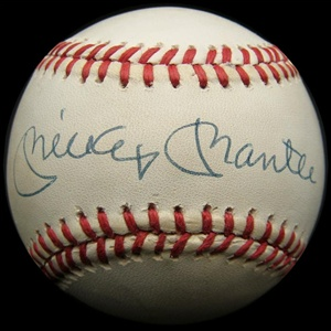 Mickey Mantle Autographed Baseball (JSA)