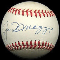 Joe DiMaggio Autographed Baseball (PSA/DNA)