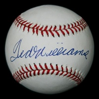 Spectacular Ted Williams Autographed Baseball (JSA)