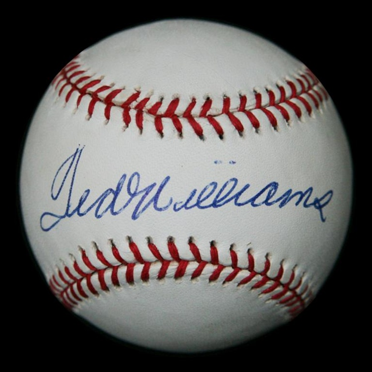 5f306459106 Spectacular Ted Williams Autographed Baseball (JSA)