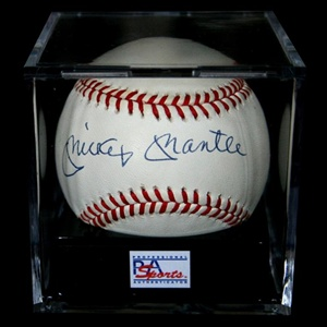 PSA/DNA Graded MINT 9 Mickey Mantle Autographed Baseball (PSA/DNA)
