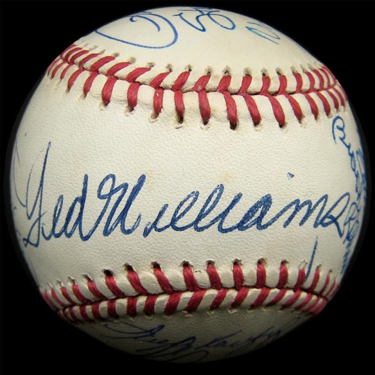 a4500732af7 All Century Team Signed Baseball with 16 Signatures Including ...
