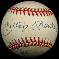 Mickey Mantle, Willie Mays, and Duke Snider Signed Baseball (PSA/DNA)