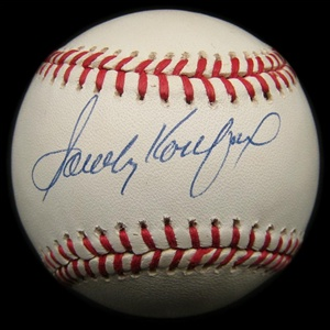 Sandy Koufax Single Signed Baseball (JSA)