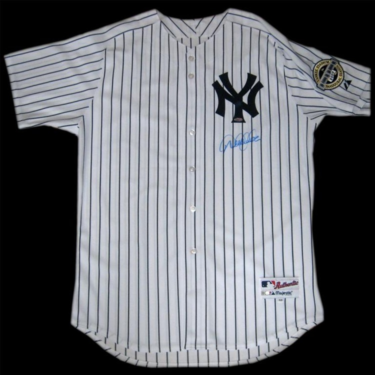100% authentic ce1cd 81ccc Derek Jeter Autographed 2009 New York Yankees Authentic Jersey with  Inaugural Season Patch (Steiner Sports and MLB Authentication)