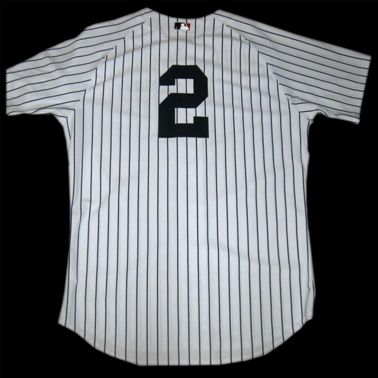 8a827183a52 Derek Jeter Autographed 2009 New York Yankees Authentic Jersey with  Inaugural Season Patch (Steiner Sports and MLB Authentication)